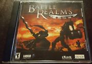 Battle Realms Pc Cd-rom 2001 Windows Fantasy Real-time Strategy Game Nm