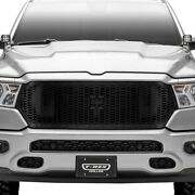 For Ram 1500 19-20 Main Grille 1-pc Laser Stealth Metal Series Black Honeycomb