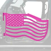 For Jeep Gladiator 20 Premium American Flag Style Hot Pink Front Trail Door Kit