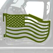 For Jeep Gladiator 20 Trail Door Kit Premium American Flag Style Locas Green
