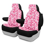 For Ford Expedition 18-20 Dash Designs Hawaiian 2nd Row Pink Custom Seat Covers