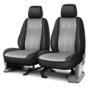 For Ford F-150 15-19 Forma Series 1st Row Black And Light Gray Custom Seat Covers