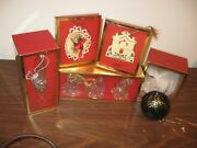Vintage Lot Of 5 Lenox Christmas Ornaments With Original Boxes