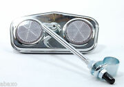 Classic Vintage Bike Bicycle Rear View Mirror,pentagon,chrome Plated,reflectors