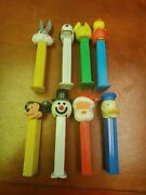 Vintage Pez Dispensers Lot Of 8 Some No Feet