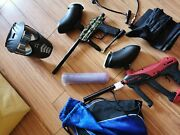 Paintball Kit With 2 Guns, Harness, Mask, Paintballs