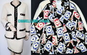 90s Vintage Cc Playing Cards Tweed Jacket Skirt Suit40collectorand039s Piece