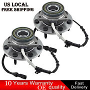 Set 2 Front Wheel Hub And Bearing For 2001-2003 Ford F-150 2004 F-150 Heritage 4wd