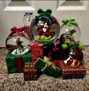 New In Box From All Of Us To You Musical Disney Snowglobe