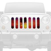 For Jeep Wrangler 18-20 1-pc Sunset Beach Style Perforated Main Grille