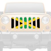For Jeep Cj7 76-86 Dirty Acres 1-pc Jamaica Flag Style Perforated Main Grille