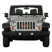 For Jeep Wrangler 18-20 Main Grille 1-pc State And City Flags Series Maryland Crab
