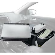 Autoexec Reach Front Seat Black Desk W Built-in Power Inverter And Printer Stand