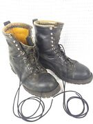 Vintage Us Army 10th Mountain Division Leather Ski Boots Sz11.5