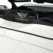 For Chevy Corvette 98-04 White Wind Deflector Glow Plate W C5 Flags Logo