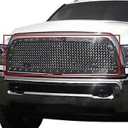 For Ram 3500 11-12 Main Grille 1-pc Rc1 Classic 2-tone Design Chrome 10.0 Power