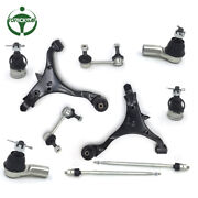 New 10 Set Fit 02-06 Honda Cr-v Steering Tie Rod Sway Bar Control Arm Ball Joint