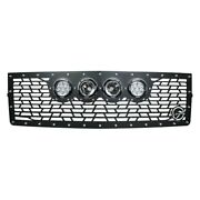 For Ford F-150 13-14 Main Grille 1-pc Vx Series Cannon Gen 2 Style Black Cnc