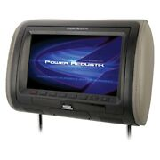 9 Headrest Lcd Monitor W Built-in Dvd Player And 3 Interchangeable Covers