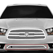 For Dodge Charger 11-14 Bumper Grille Lexani 1-pc Zurich Style Chrome Mesh