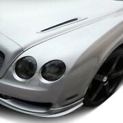For Bentley Continental 07-11 Supersports Style Fiberglass Hood Vents Unpainted