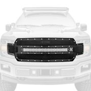 For Ford F-150 18-20 Main Grille 1-pc Torch Series Black Formed Woven Wire Mesh