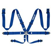 Sparco 04818racaz 6-point 3 Competition Harness Set Steel Cam-lock Blue