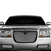 For Chrysler 300 05-10 Grille Kit Lexani 3-pc Classic Style Chrome Mesh Grille