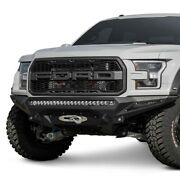 For Ford F-150 17-20 Bumper Stealth Fighter Full Width Hammer Black Front Winch