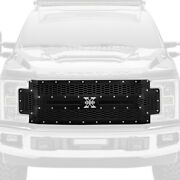 For Ford F-250 Super Duty 17-19 Main Grille 1-pc Laser X-metal Series Black