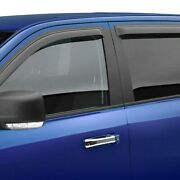 For Toyota 4runner 2003-2009 Black Horse Tape-on Smoke Front And Rear Rain Guards