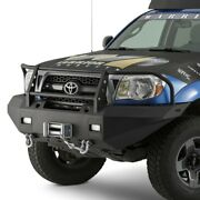 For Toyota Tacoma 05-11 Full Width Black Front Winch Hd Bumper W Grille Guard
