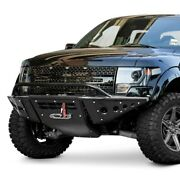For Ford F-150 10-14 Bumper Stealth Full Width Black Front Winch Pre-runner