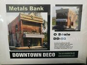 Downtown Deco O Scale Gauge Metals Bank Structure Building Kit Hydrocal New