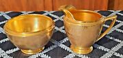 Incredibly Rare Minton Creamer And Open Sugar Pattern X957 Lavishly Gold Covered