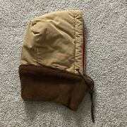 Vintage Quilted Hood Knit Duck Canvas Rare Brown Workwear Collectable