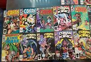 Vintage Lot Conan The King Comic Books By Marvel Bronze Copper Silver Gold Age