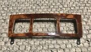 Mercedes-benz 03-06 W220 S430 S500 S55 S600 Front Climate Control Wood Trim Oem