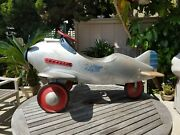 Original 1940andrsquos Murray Pursuit Pedal Airplane Great Condition