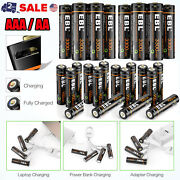 Ebl Usb Rechargeable Lithium Aaa Aa D Size Batteries 1.5v+micro Usb Cable Lot Us