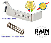Ghost Edge Glock 42 43 43x 48 3lb Trigger Connector And Ismi Spring Plus 50 Xp