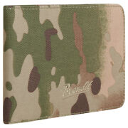 Brandit Wallet Four Zipped Coin Compartment Card Slots Foldable Tactical Camo