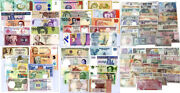 World Banknotes Lot Set 100 Pcs From 34 Countries All Unc