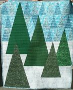 Handmade Christmas Tree Quilt Winter Tree Quilt Wall Hanging Lap Quilt 45 X 57