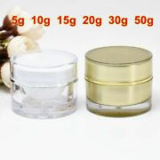 Round Acrylic Jar Container Empty Cream Cosmetic Packaging Bottle Refillable New