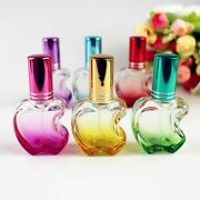 Glass Perfume Refillable Bottle Apple Shaped Spray Atomizer Vials 12ml Container