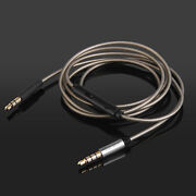 Silver Plated Audio Cable Withmic For Logitech Ue6000 Ue9000 Pioneer Sec-mj101bt