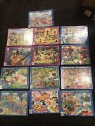 Lot Of 13 Vintage Jaymar Disney Mickey Mouse And Movie Inlaid Puzzles, New, Sealed