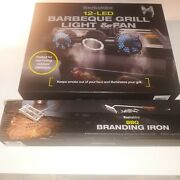 Berkshire 12-led Barbeque Grill Light And Fan With The Bbq Branding Iron Kit.