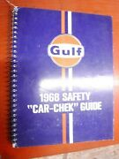 1961-1968 Gulf Oil Car-chek Guide Domestic And Imported Cars And Trucks Lubrication